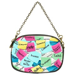 Stickies Post It List Business Chain Purses (one Side)  by Celenk