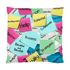 Stickies Post It List Business Standard Cushion Case (two Sides) by Celenk