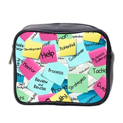 Stickies Post It List Business Mini Toiletries Bag 2 Side by Celenk
