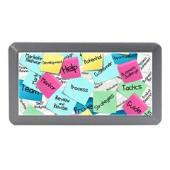 Stickies Post It List Business Memory Card Reader (mini) by Celenk