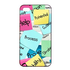 Stickies Post It List Business Apple Iphone 4/4s Seamless Case (black) by Celenk