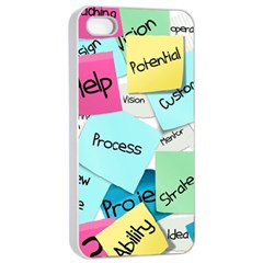 Stickies Post It List Business Apple Iphone 4/4s Seamless Case (white) by Celenk