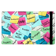 Stickies Post It List Business Apple Ipad 3/4 Flip Case by Celenk