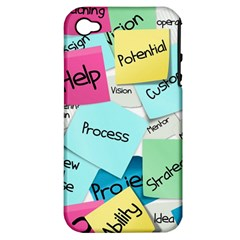 Stickies Post It List Business Apple Iphone 4/4s Hardshell Case (pc+silicone) by Celenk