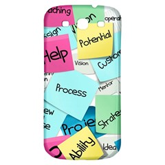 Stickies Post It List Business Samsung Galaxy S3 S Iii Classic Hardshell Back Case by Celenk