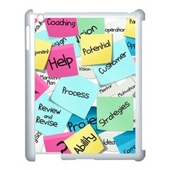 Stickies Post It List Business Apple Ipad 3/4 Case (white) by Celenk