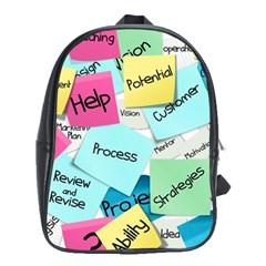 Stickies Post It List Business School Bag (xl) by Celenk