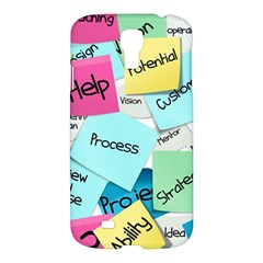 Stickies Post It List Business Samsung Galaxy S4 I9500/i9505 Hardshell Case by Celenk