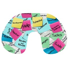 Stickies Post It List Business Travel Neck Pillows by Celenk
