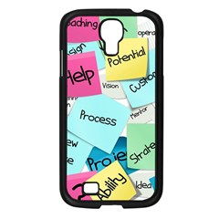 Stickies Post It List Business Samsung Galaxy S4 I9500/ I9505 Case (black) by Celenk