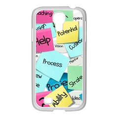 Stickies Post It List Business Samsung Galaxy S4 I9500/ I9505 Case (white) by Celenk