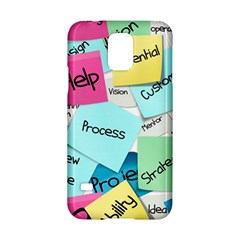 Stickies Post It List Business Samsung Galaxy S5 Hardshell Case  by Celenk
