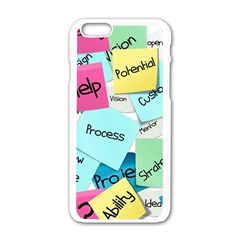 Stickies Post It List Business Apple Iphone 6/6s White Enamel Case by Celenk
