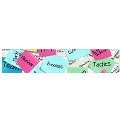 Stickies Post It List Business Small Flano Scarf by Celenk