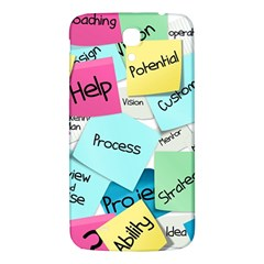 Stickies Post It List Business Samsung Galaxy Mega I9200 Hardshell Back Case by Celenk