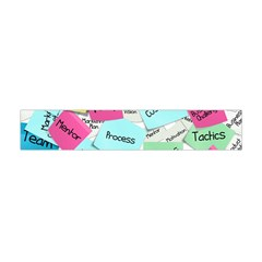 Stickies Post It List Business Flano Scarf (mini) by Celenk