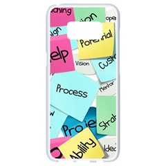 Stickies Post It List Business Samsung Galaxy S8 White Seamless Case by Celenk