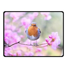 Spring Bird Bird Spring Robin Double Sided Fleece Blanket (small)