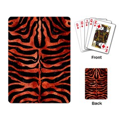 Skin2 Black Marble & Copper Paint (r) Playing Card by trendistuff