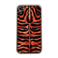 Skin2 Black Marble & Copper Paint (r) Apple Iphone 4 Case (clear) by trendistuff
