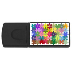 Puzzle Part Letters Abc Education Rectangular Usb Flash Drive by Celenk