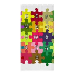 Puzzle Part Letters Abc Education Shower Curtain 36  X 72  (stall)  by Celenk