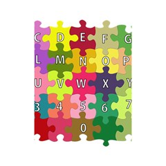 Puzzle Part Letters Abc Education Shower Curtain 48  X 72  (small)  by Celenk