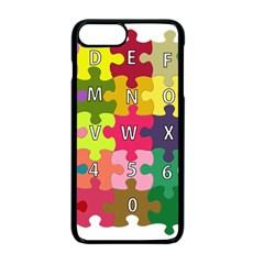 Puzzle Part Letters Abc Education Apple Iphone 7 Plus Seamless Case (black)