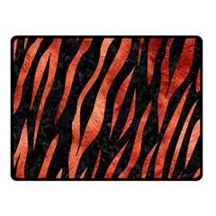 Skin3 Black Marble & Copper Paint (r) Double Sided Fleece Blanket (small)  by trendistuff