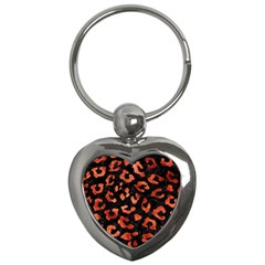 Skin5 Black Marble & Copper Paint Key Chains (heart)  by trendistuff