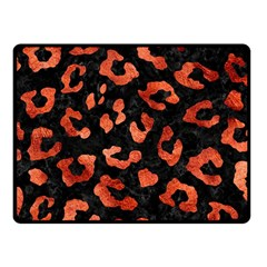 Skin5 Black Marble & Copper Paint Fleece Blanket (small) by trendistuff