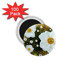 Summer Anemone Sylvestris 1 75  Magnets (100 Pack)  by Celenk