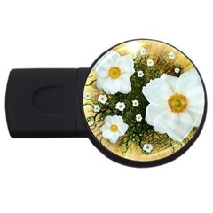 Summer Anemone Sylvestris Usb Flash Drive Round (2 Gb) by Celenk