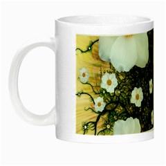 Summer Anemone Sylvestris Night Luminous Mugs by Celenk
