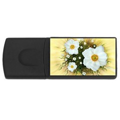 Summer Anemone Sylvestris Rectangular Usb Flash Drive by Celenk