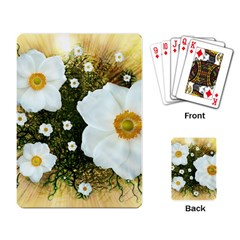 Summer Anemone Sylvestris Playing Card by Celenk