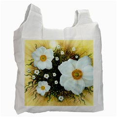Summer Anemone Sylvestris Recycle Bag (two Side)  by Celenk