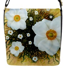 Summer Anemone Sylvestris Flap Messenger Bag (s)