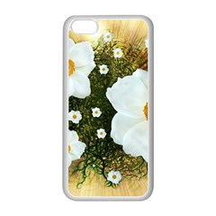 Summer Anemone Sylvestris Apple Iphone 5c Seamless Case (white) by Celenk