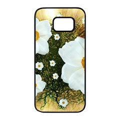 Summer Anemone Sylvestris Samsung Galaxy S7 Edge Black Seamless Case by Celenk
