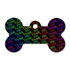 Thank You Font Colorful Word Color Dog Tag Bone (two Sides) by Celenk