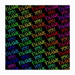 Thank You Font Colorful Word Color Medium Glasses Cloth (2 Side) by Celenk