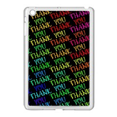 Thank You Font Colorful Word Color Apple Ipad Mini Case (white) by Celenk