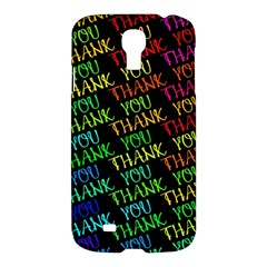 Thank You Font Colorful Word Color Samsung Galaxy S4 I9500/i9505 Hardshell Case by Celenk