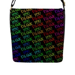 Thank You Font Colorful Word Color Flap Messenger Bag (l)  by Celenk
