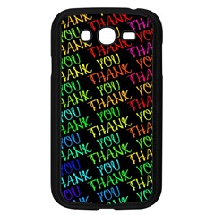 Thank You Font Colorful Word Color Samsung Galaxy Grand Duos I9082 Case (black) by Celenk
