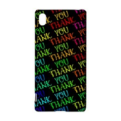 Thank You Font Colorful Word Color Sony Xperia Z3+ by Celenk