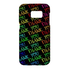 Thank You Font Colorful Word Color Samsung Galaxy S7 Hardshell Case  by Celenk