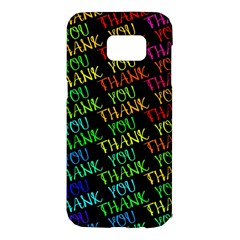 Thank You Font Colorful Word Color Samsung Galaxy S7 Edge Hardshell Case by Celenk