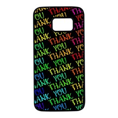 Thank You Font Colorful Word Color Samsung Galaxy S7 Black Seamless Case by Celenk